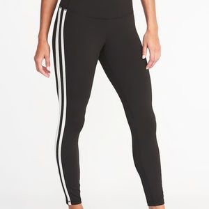 Old Navy plus stripe high waist work out leggings